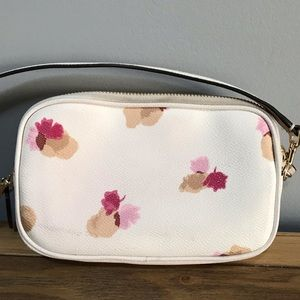 Coach Bags - Coach Crossbody Clutch Bag - White w Floral Print